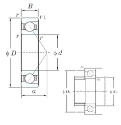 25 mm x 80 mm x 21 mm  KOYO 7405 angular contact ball bearings