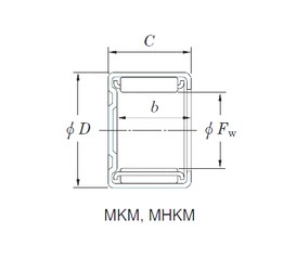 KOYO 12MKM1812 needle roller bearings