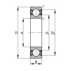 15 mm x 42 mm x 17 mm  FAG 62302-2RSR deep groove ball bearings