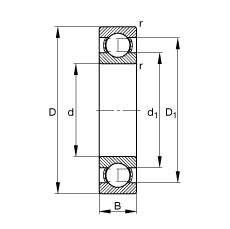 300 mm x 460 mm x 74 mm  FAG 6060-M deep groove ball bearings