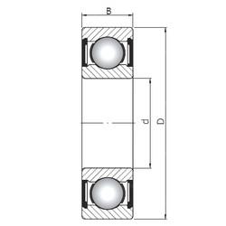25 mm x 80 mm x 21 mm  ISO 6405 ZZ deep groove ball bearings