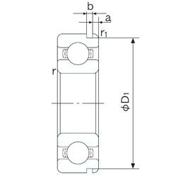32 mm x 75 mm x 20 mm  NACHI 63/32N deep groove ball bearings