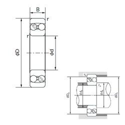 15 mm x 42 mm x 17 mm  NACHI 2302 self aligning ball bearings