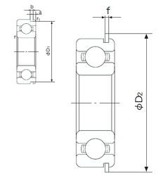 32 mm x 75 mm x 20 mm  NACHI 63/32NR deep groove ball bearings