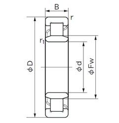 300 mm x 460 mm x 74 mm  NACHI NU 1060 cylindrical roller bearings