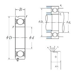 32 mm x 75 mm x 20 mm  NSK 63/32N deep groove ball bearings