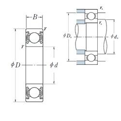 32 mm x 75 mm x 20 mm  NSK 63/32ZZ deep groove ball bearings