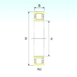 300 mm x 460 mm x 74 mm  ISB NJ 1060 cylindrical roller bearings