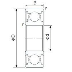 32 mm x 75 mm x 20 mm  NACHI 63/32NSE deep groove ball bearings