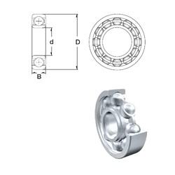 25 mm x 80 mm x 21 mm  ZEN 6405 deep groove ball bearings