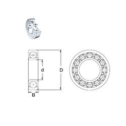 25 mm x 80 mm x 21 mm  ZEN 6405-2Z deep groove ball bearings