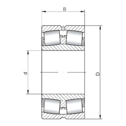 160 mm x 240 mm x 80 mm  ISO 24032W33 spherical roller bearings