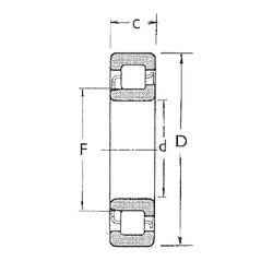 70 mm x 180 mm x 42 mm  FBJ NJ414 cylindrical roller bearings