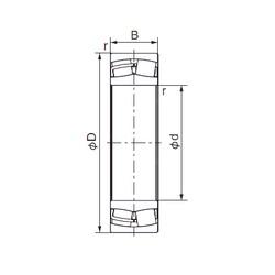 360 mm x 600 mm x 192 mm  NACHI 23172E cylindrical roller bearings