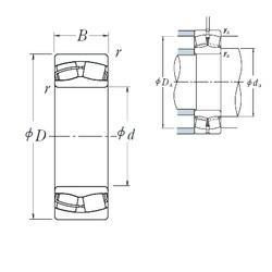 160 mm x 240 mm x 80 mm  NSK 24032CE4 spherical roller bearings