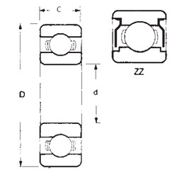 25 mm x 80 mm x 21 mm  FBJ 6405ZZ deep groove ball bearings