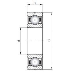 ISO Q1060 angular contact ball bearings