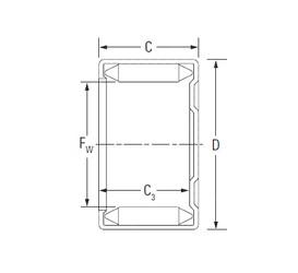KOYO DLF 12 12 needle roller bearings