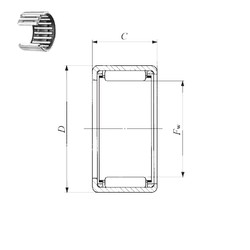 IKO TLA 1212 Z needle roller bearings