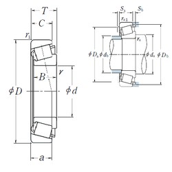 45 mm x 75 mm x 20 mm  NSK HR32009XJ tapered roller bearings