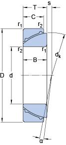 45 mm x 75 mm x 20 mm  SKF GAC 45 F plain bearings