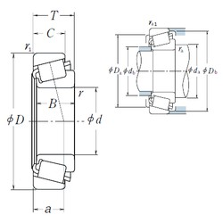 55 mm x 90 mm x 23 mm  NSK JLM506849/JLM506810 tapered roller bearings