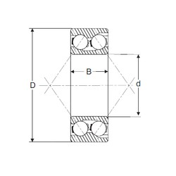 55 mm x 100 mm x 33,3 mm  SIGMA 3211 angular contact ball bearings