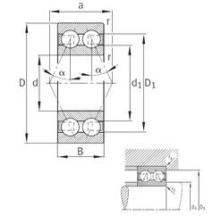 55 mm x 100 mm x 33,3 mm  FAG 3211-B-TVH angular contact ball bearings