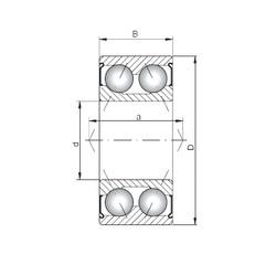 ISO 3211 ZZ angular contact ball bearings