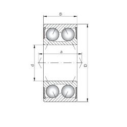 ISO 3211-2RS angular contact ball bearings