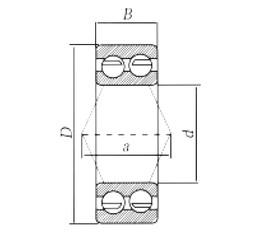 55 mm x 100 mm x 33,3 mm  Loyal 3211 angular contact ball bearings