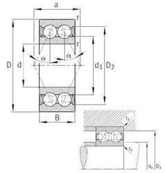 55 mm x 100 mm x 33,3 mm  FAG 3211-B-2RSR-TVH angular contact ball bearings