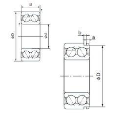 55 mm x 100 mm x 33.3 mm  NACHI 5211N angular contact ball bearings