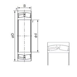 160 mm x 240 mm x 80 mm  NACHI 24032AX cylindrical roller bearings