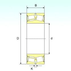 160 mm x 240 mm x 80 mm  ISB 24032-2RS spherical roller bearings
