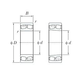 360 mm x 600 mm x 192 mm  KOYO 23172RK spherical roller bearings