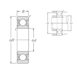 32 mm x 75 mm x 20 mm  NTN 63/32LLU deep groove ball bearings