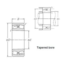 160 mm x 240 mm x 80 mm  NTN 24032CK30 spherical roller bearings