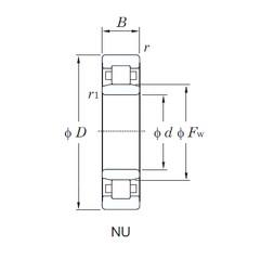 55 mm x 100 mm x 33.3 mm  KOYO NU3211 cylindrical roller bearings