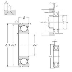 32 mm x 75 mm x 20 mm  NTN 63/32NR deep groove ball bearings