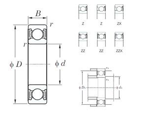 32 mm x 75 mm x 20 mm  KOYO 63/32ZZ deep groove ball bearings
