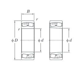 360 mm x 600 mm x 192 mm  KOYO 23172RHA spherical roller bearings
