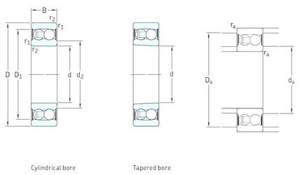 15 mm x 42 mm x 17 mm  SKF 2302E-2RS1TN9 self aligning ball bearings
