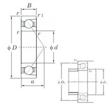 70 mm x 180 mm x 42 mm  KOYO 7414 angular contact ball bearings