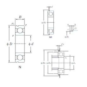 32 mm x 75 mm x 20 mm  KOYO 63/32N deep groove ball bearings