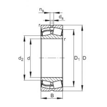 160 mm x 240 mm x 80 mm  FAG 24032-E1 spherical roller bearings