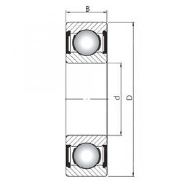25 mm x 80 mm x 21 mm  Loyal 6405 ZZ deep groove ball bearings