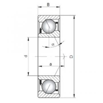 70 mm x 180 mm x 42 mm  ISO 7414 B angular contact ball bearings