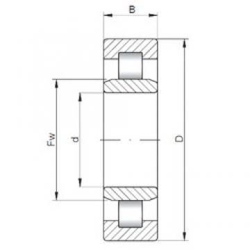 55 mm x 100 mm x 33,3 mm  ISO NU3211 cylindrical roller bearings