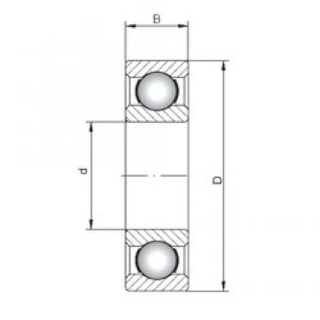 25 mm x 80 mm x 21 mm  ISO 6405 deep groove ball bearings